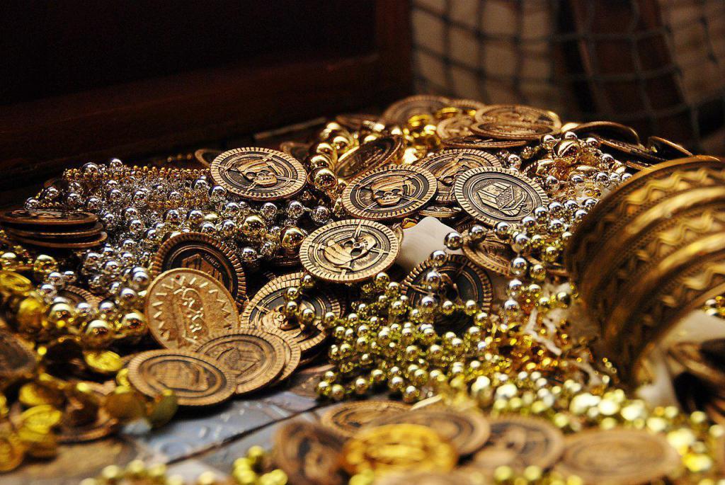 Золотое пиратское сокровище.