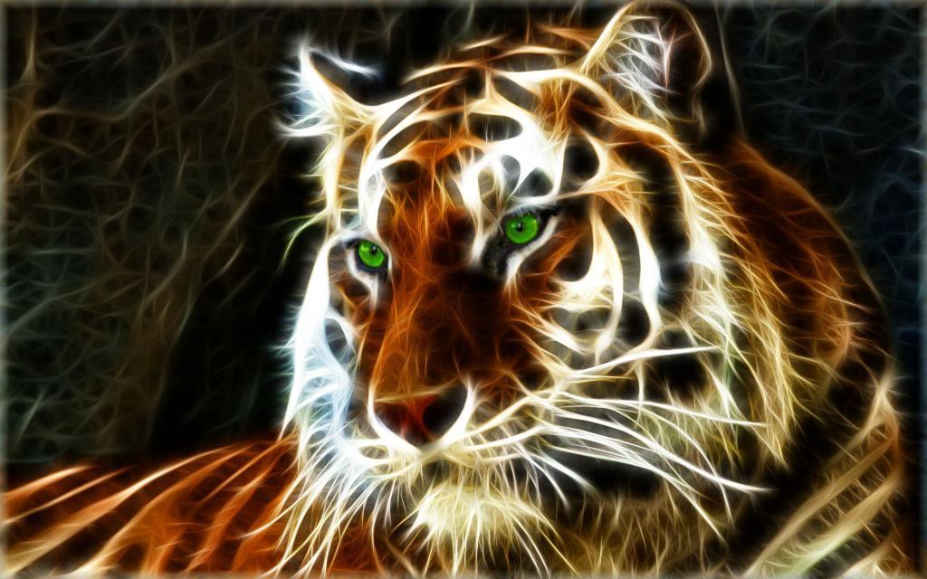 Необычный тигр