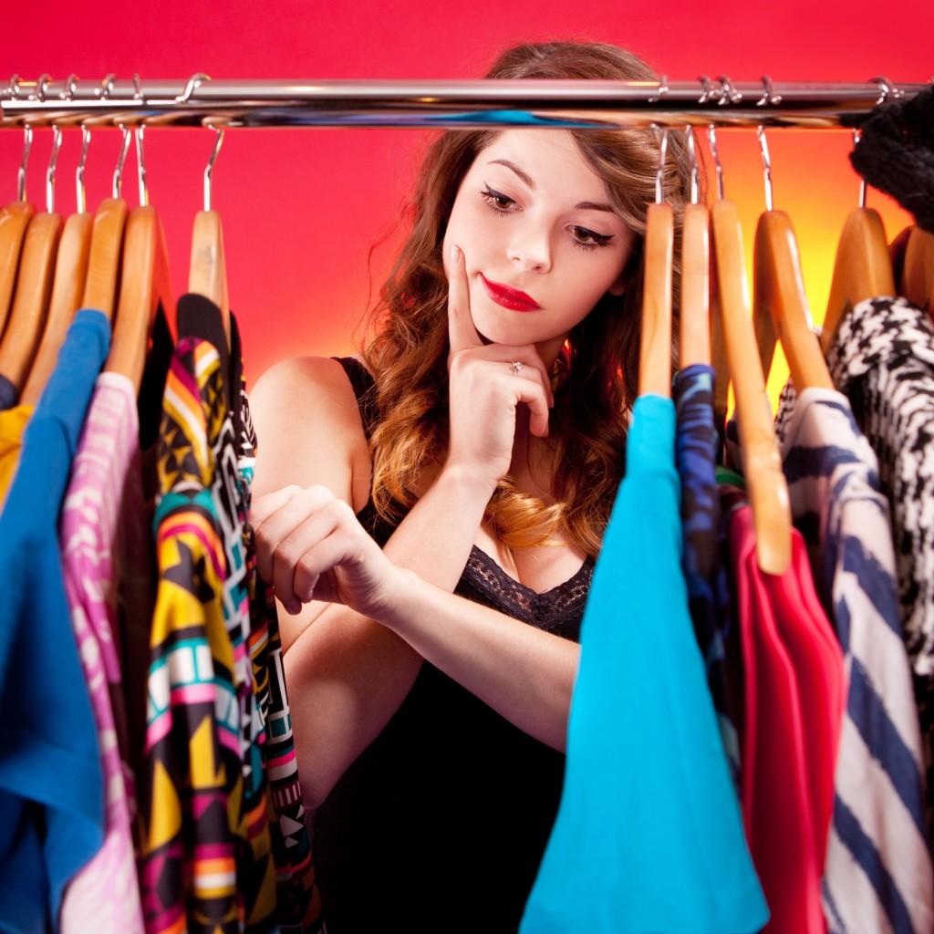 выбор новой одежды