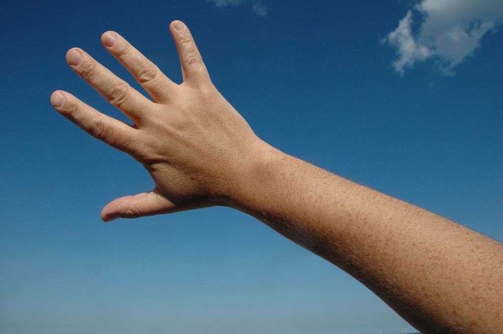 Рука человека