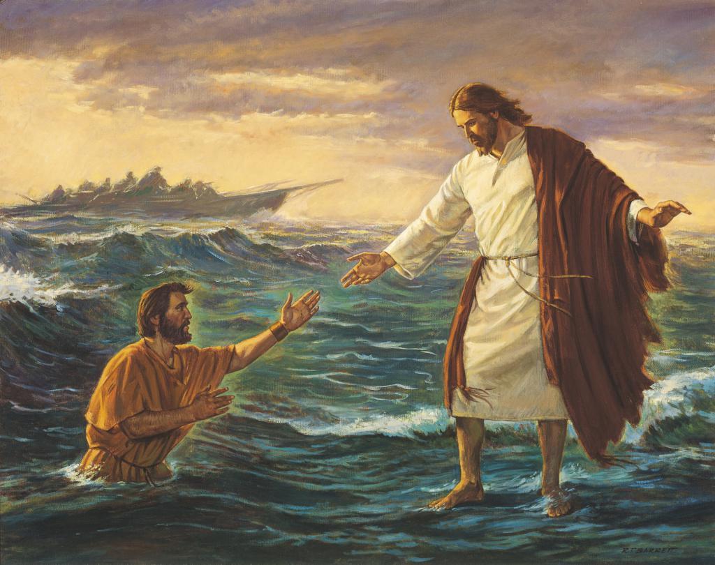 господь идущий по воде фотографии знает