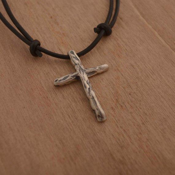 сонник крестик с цепочкой серебряный