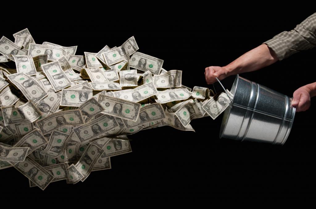 Раскидать деньги