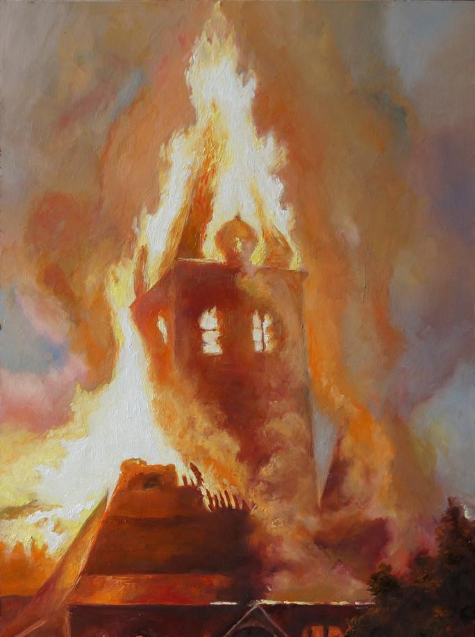 Колокольня в огне