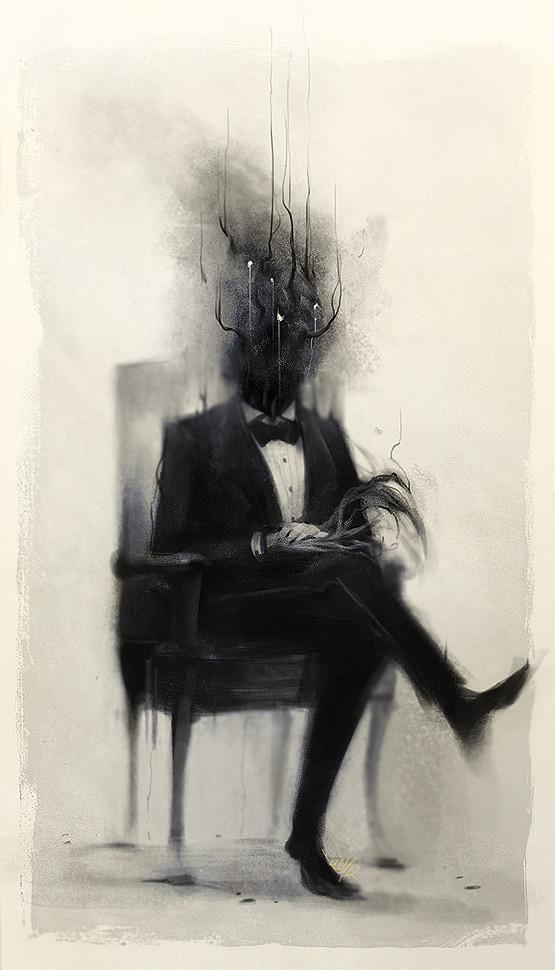 Призрак, сидящий на стуле