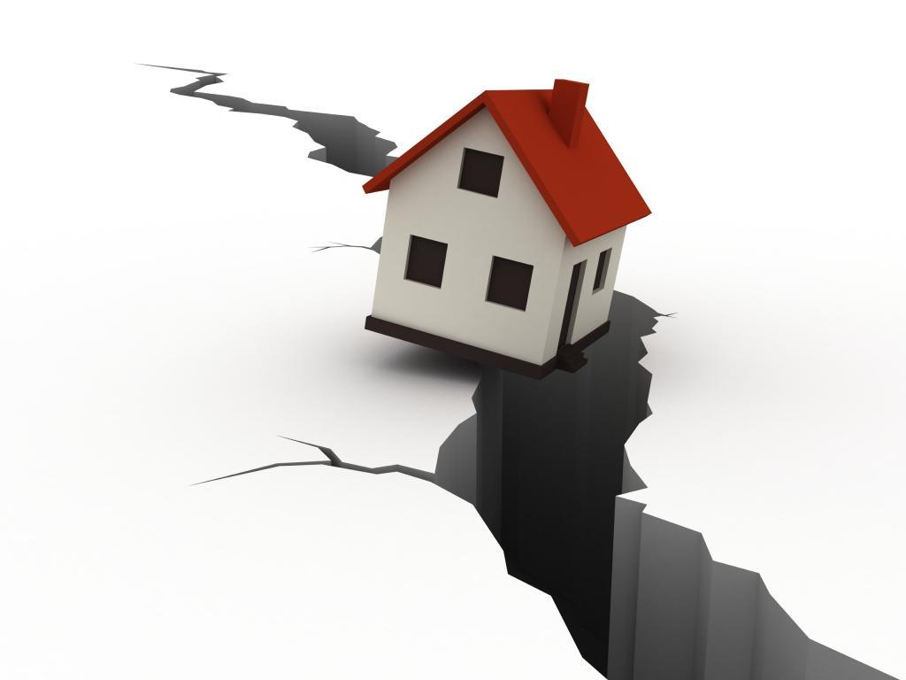 домик падает в пропасть
